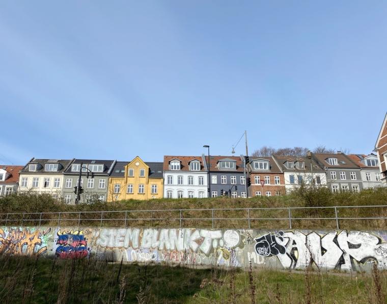 Aarhus lempipaikat Värikkäät talot